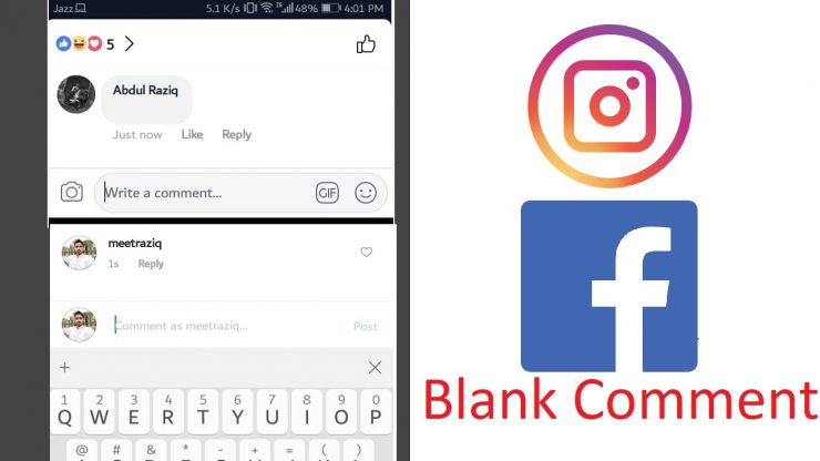 How to make a Blank Comment on Instagram/Facebook
